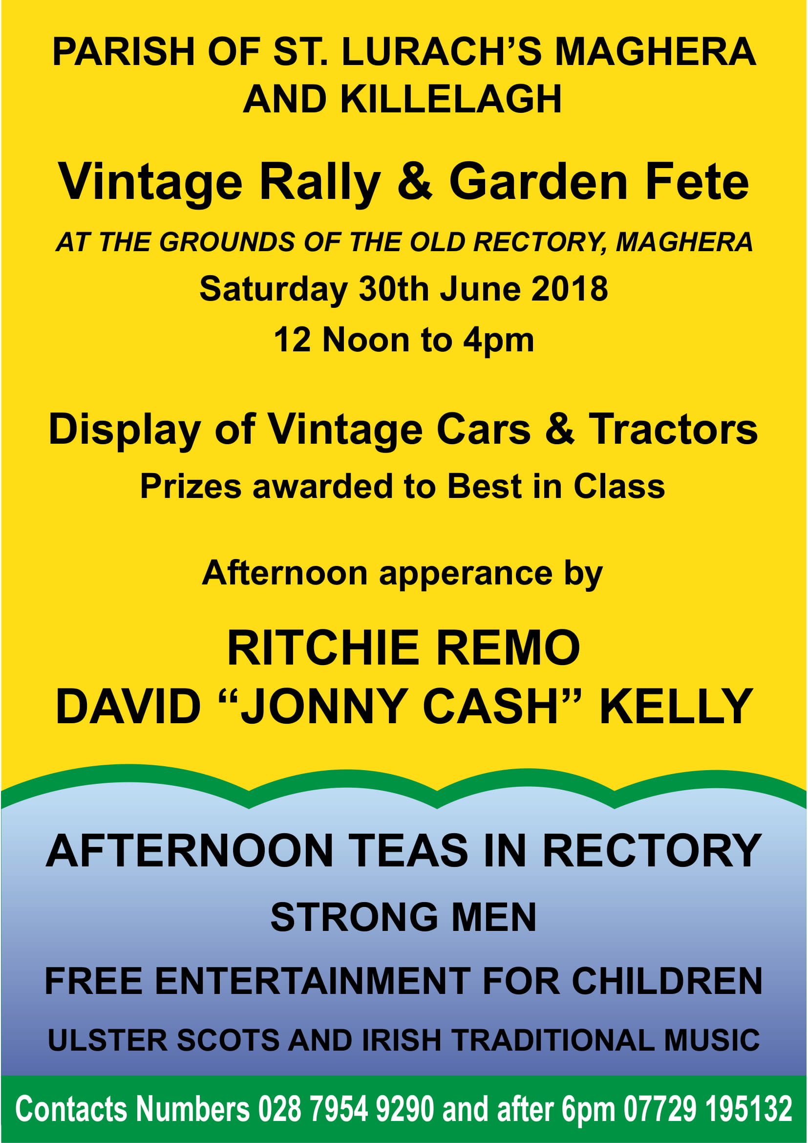 The Parish of St. Lurach's, Maghera & Killelagh Garden Fete & Vintage Rally